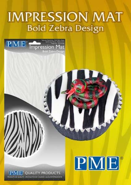 Prägematte Zebra