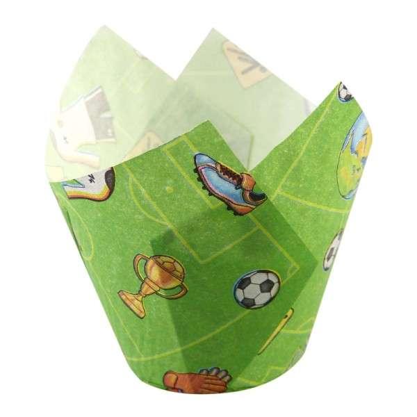 Muffin Tulip Wraps Fussball 24 Stück 160x160mm