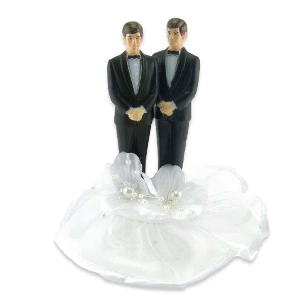Männerpaar auf Spitzensockel