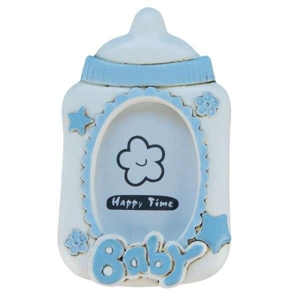 Baby-Fotorahmen Flasche blau