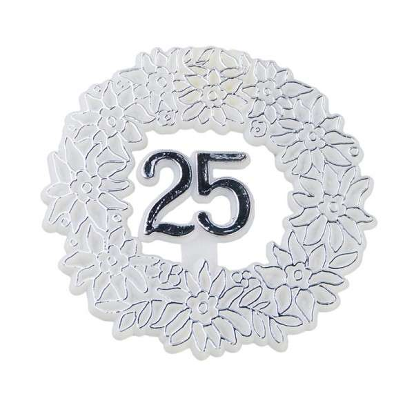 Tortendekoration Silberhochzeit 25.Jubiläum