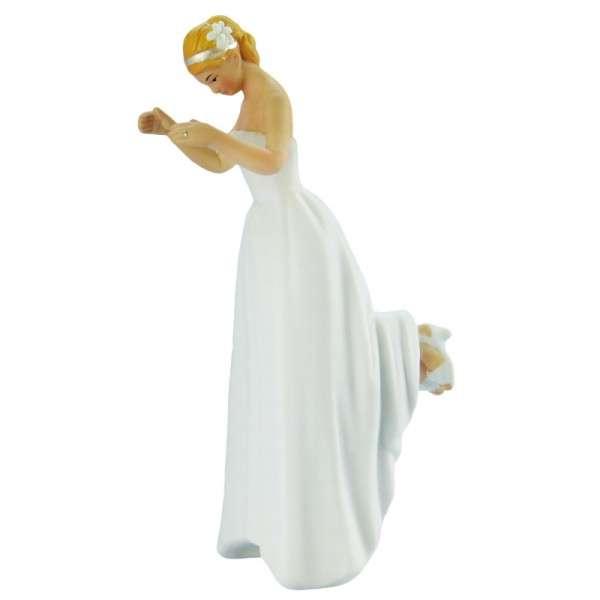 Hochzeitsfiguren Braut blond